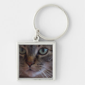 Cat Wait to See You  Square Keychain