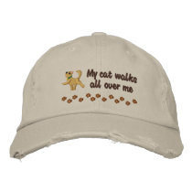 Cat Walk Embroidered Baseball Hat