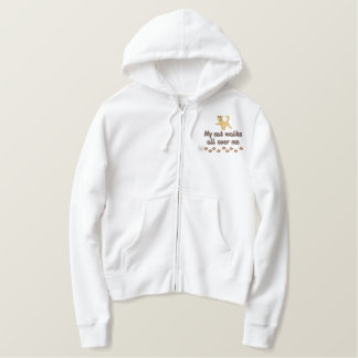 Cat Walk Embroidered Hoodie