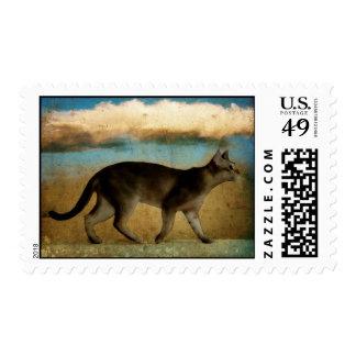 Cat Walk Postage Stamps