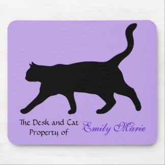 Cat Walk Silhouette: Desk of Mouse Pad