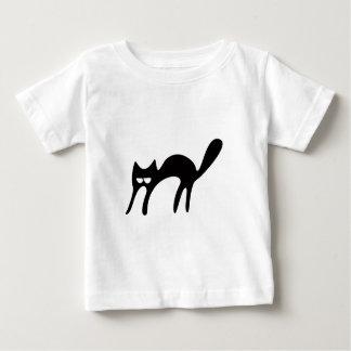 Cat Walking About Black Satisfied Smug Eyes Tee Shirts