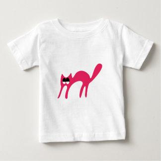 Cat Walking About Pink Satisfied Smug Eyes Shirts