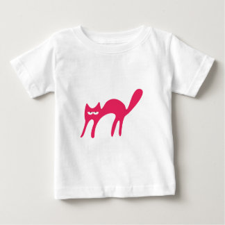 Cat Walking About Pink Yeah Right Eyes Baby T-Shirt