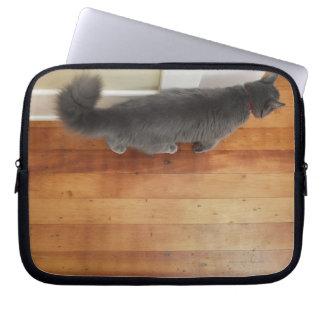Cat walking laptop sleeve
