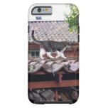 Cat walking on roof of shed tough iPhone 6 case