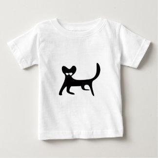 Cat Walking Sideways Black Satisfied Smug Eyes Tshirt
