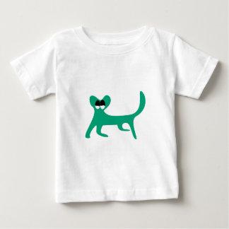 Cat Walking Sideways Green Satisfied Smug Eyes Shirt