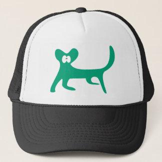 Cat Walking Sideways Green Wtf Eyes Trucker Hat