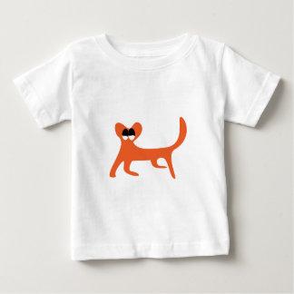 Cat Walking Sideways Orange Satisfied Smug Eyes Tee Shirts