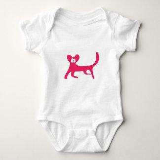 Cat Walking Sideways Pink Wtf Eyes Baby Bodysuit