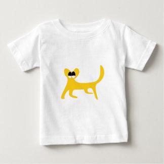 Cat Walking Sideways Yellow Satisfied Smug Eyes Tees