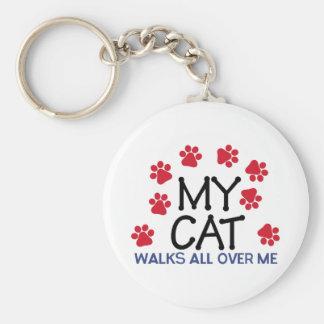 Cat Walks Paws Keychain