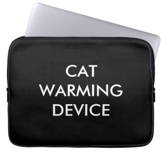 Cat warming device laptop sleeve