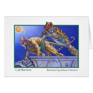 Cat Warriors Greeting Cards