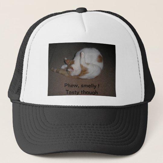 Cat Washing Trucker Hat