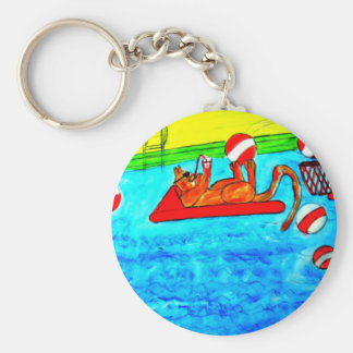 Cat Water Polo Keychains