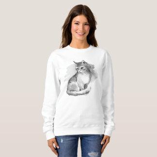 Cat. Watercolor Sweatshirt