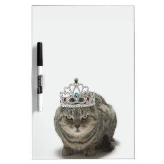 Cat wearing a tiara dry erase board