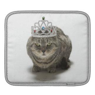 Cat wearing a tiara iPad sleeve