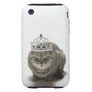 Cat wearing a tiara iPhone 3 tough cover