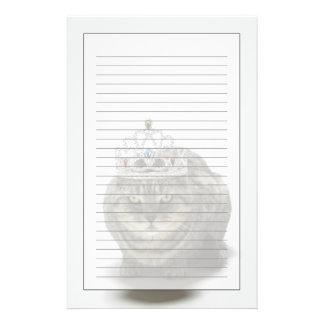 Cat wearing a tiara stationery