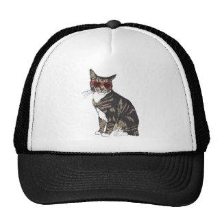 Cat Wearing Heart Glasses Trucker Hat