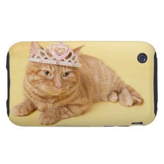 Cat wearing tiara tough iPhone 3 case
