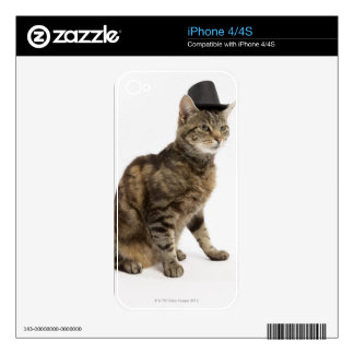 Cat wearing top hat skins for iPhone 4S