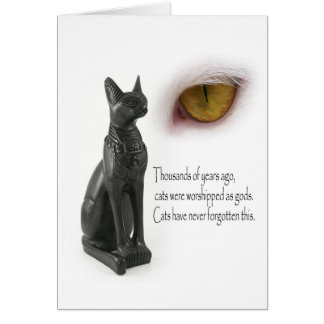 Cat Were Gods Greeting Card