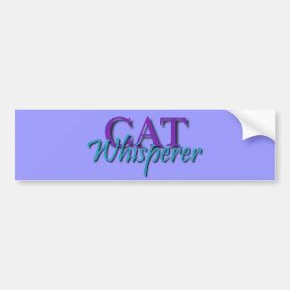 Cat Whisperer Bumper Sticker