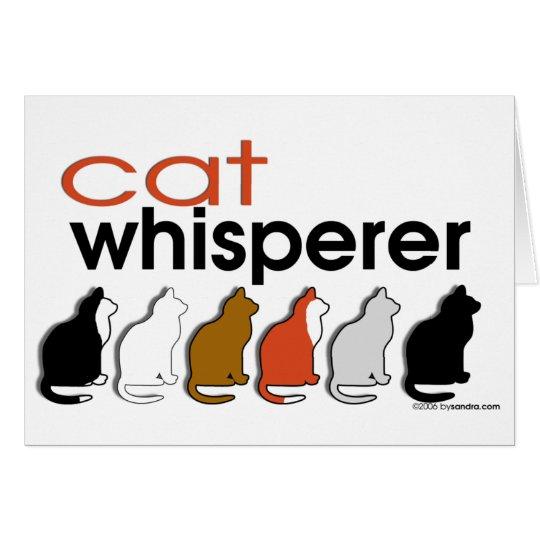 Cat Whisperer Card