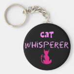 """Cat Whisperer"" Cat Lover Gifts Keychains"