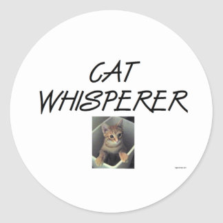 Cat Whisperer w/ Ollie Classic Round Sticker