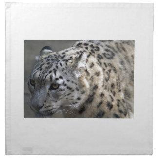 Cat Wild Snow Leopard Spots Destiny Nature Cloth Napkin