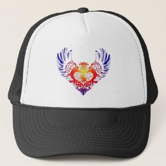 Cat Winged Heart Trucker Hat