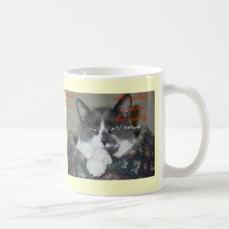 Cat Wisdom Classic White Coffee Mug