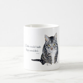 Cat Wisdom - if Cats could talk they wouldn't Coffee Mug