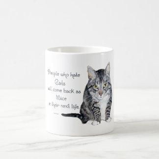 Cat Wisdom - People who hate Cats Coffee Mug