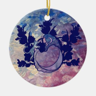 Cat Witch Moon Goddess Wiccan Cat Person Ceramic Ornament
