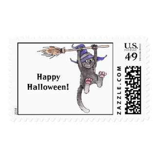 Cat Witch Postage