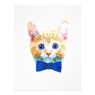 Cat with a bow tie letterhead