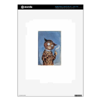 Cat With A Cigar iPad 3 Skin