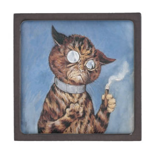 Cat With A Cigar Jewelry Box