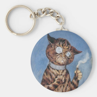 Cat With A Cigar Keychain