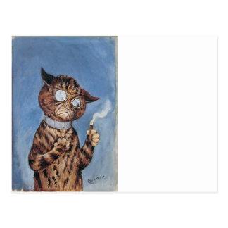 Cat With A Cigar Postcard