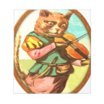 Cat with a fiddle memo pads