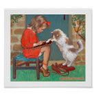Cat with a Girl, Jessie Willcox Smith Poster