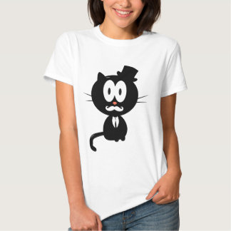 Cat with a mustache camisas