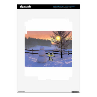 Cat With A Snowman Skin For iPad 3